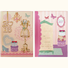 Vintage Fashion Design A6 2015 Diary Week to View Pocket Journal