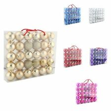 Bulk 30x Colours Round Christmas Tree Balls Baubles Xmas Party Decoration 5.8CM