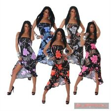 WOMENS STRAPLESS DRESS NEW SIZE 6-8-10 SEXY FLORAL PARTY CLUB CASUAL HOT EVENING