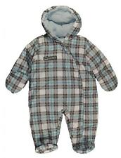Carter's Infant Boys Light Blue & Gray Plaid Pram Suit Size 3/6M 6/9M $50