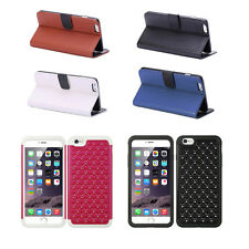Wallet Card Holder Leather Case Cover Stand / Hybrid Diamond Back Cover Case