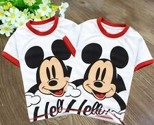 New Design Kids Boys Girls Mickey Mouse O-neck Tops Shirts T-shirt Size 2-7Years