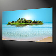 SANDY ISLAND SEASIDE QUALITY CANVAS PRINT WALL DESIGN READY TO HANG