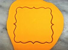 Square Plaque #1 Cookie Cutter CHOOSE YOUR OWN SIZE!