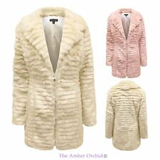 Brave Soul Womens Ladies Faux Fur Fashion Winter Outwear Jacket Coat 8-16