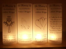 PERSONALISED WEDDING MEMORIAL/REMEMBRANCE LUMINARY/LUMINARIE/CANDLE WRAP