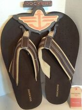 Dockers Men's Brown Distressed Thong Flip Flop NWT