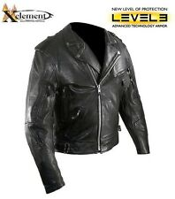 Men's Exelement Armored Buffalo Leather Biker Jacket