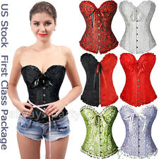 Plus Size S-6XL Mixed Black Red Sexy Overbust Corset Zipper Erotic Pirate  AP 20