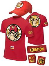 John Cena Boys 2014 Red Kids Costume T-shirt Hat Wristbands