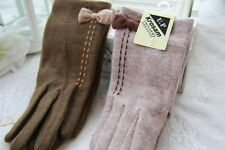 2014 New Women's Stretch Knit Winter Warmer Wool Gloves Christmas Gift 2 Colors