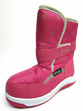 Girls Reflex Fuchsia Pink Snow Boots with Strap & Faux Fur Lining H4069