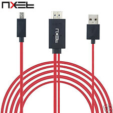 5Pin MHL Cable Micro USB to HDMI 1080P Media HD TV HDTV Charger for Sony Xperia