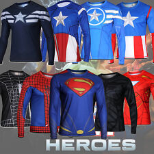 Men Under Armour Alter Ego Compression Comics Superhero Long Sleeve T-Shirts Tee
