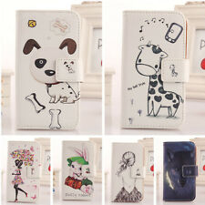 1X Book-Style Flip PU Leather Case Protection Skin Cover For BLU Smartphone New