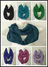 INFINITY SCARF STYLE T SHIRT MATERIAL SOLID A COLORS