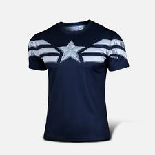 Captain America T Shirt Winter Soldier Casual Tops Fashion Tees Aasin Sz S-4XL