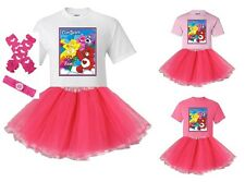 """""""Care Bears Rainbow"""" Personalized White or Pink T-Shirt and Pink Tutu Set - NEW"""