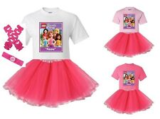 """""""Lego Friends Forever"""" Personalized T-Shirt and Pink Tutu Set - NEW"""