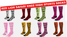 NEW RED LION SAFARI KNEE HIGH SOCKS SOCCER BASKETBALL VOLLEYBALL ATHLETIC SOCKS