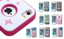 Design Shell + Silicone Cover VERGE Hybrid Case with Stand for iPhone 5 or 5S