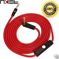 Red Replacement 3.5mm Audio AUX Cable for Beats Studio Solo HD Pro Wireless Mixr