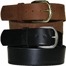 """Mens Leather Belt 1-3/4"""" Casual, Work Belts 411 Plain Removable Buckle USA MADE"""