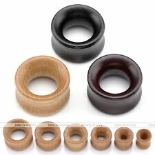 Pair(2) 00g-3/4'' Organic Wood Hollow Flared Ear Plugs Tunnel Expander Stretcher