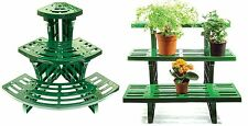 Etagere Potted Plant Pot Stand 3-Tier Garden Display Straight Or Corner Outdoor