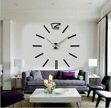 "Wall Clock Modern Design DIY 3D Acrylic 39"" Large For Livingroom Home Decoration"