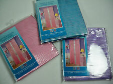 New Girl's Bedroom Sparkle silver stripe sheer TWO panel set PINK,BLUE or PURPLE