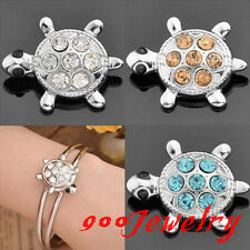 10pc Chunk Snap On Crystal Turtle Metal Button Fit Style Bracelet