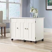 Sewing and Craft Table Machine Sew Desk Steady Storage Furniture Wood White NEW