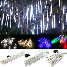 Meteor Shower Falling Star Rain Drop Icicle Snow Fall LED Xmas String Light Bulb