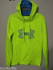 Under Armour Storm Hoodie Womens Big Logo 1240258 Semi Fitted Yellow M nwt$55