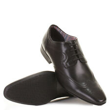 MENS CLARKS GLINT BLACK LEATHER BROGUE LACE UP SMART WORK OFFICE SHOES UK SIZE