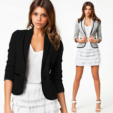 Women Girls OL Long Sleeve Outerwear Cardigans Tops Jackets Coats Suits Blazer