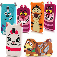 For Samsung 3D Cute Classic Cartoon Monsters Animal Silicone Gel Cover Soft Case