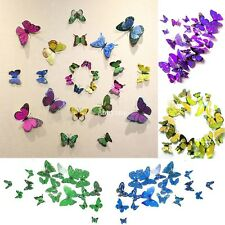 3D Butterfly Wall Stickers Sticker Art Diy Decal Home Room Decor Decorations