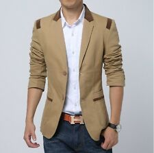 New Fashion Mens Slim Fit Stylish Casual Two Button Suit Coat Jacket Blazers3493