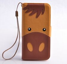 Animal Donkey Panda Bear Leather Case Cover for iPhone 5 5S