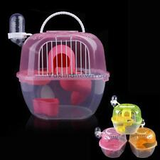 V1NF New 2 Level Hamster Gerbil Mouse House Cage Clear Plastic  Playhouse Nest