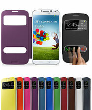 S View Two Window Side Flip Slim Battery Case Cover For Samsung S3 I9300 Phone