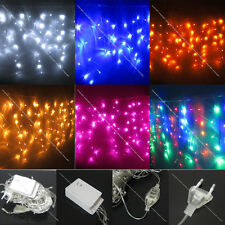 20FT 2x 3M 100 Led Curtain Icicle Xmas Light White Red Blue RGB Pink US Delivery
