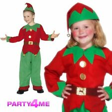Child Deluxe Elf Suit Outfit Fancy Dress Costume Christmas Xmas Kids Boys New