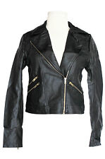 Black Quilted Black  faux leather Biker/Moto Jacket S,M,L Plus XL,2XL,3XL