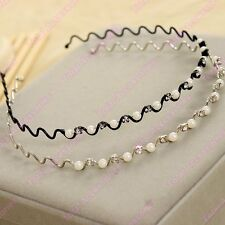 Pearl & Crystal Wave Headband - Beautiful Womens Girls Alice Hair Head Band -NEW