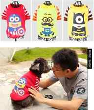 Fashion 2014 Dog Puppy Clothes Coat Apparel Autumn Cat Pet Jacket Hood Minions