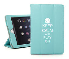 For iPad 2 3 4 Air Mini Smart Case Cover Stand Keep Calm Play Baseball Softball