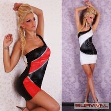 WOMENS MINI EVENING DRESS RED WHITE NEW SEXY SIZE 6-8-10 DESIGNER PARTY CLUBWEAR